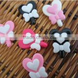 wholesale flat back resin flower cabochon, Kawaii cabochon craft for jewelry