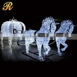 Holiday decorative LED Cinderella horse carriage