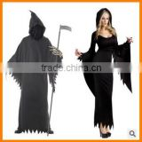 Halloween devil couples dress night wandering ghost witch game clothing dress for men and women.