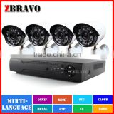 4CH CCTV System 720P HDMI AHD CCTV DVR 4PCS 1.0MP IR Outdoor Security Camera AHD AHDM DVR Kit 1200TVL Camera Surveillance System                                                                         Quality Choice