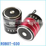 Robot-030 vibration portable mini speaker,active powered Sound box,fm radio usb sd card reader speaker