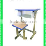 adjustable school desk and chair school furniture school desk with bench HXZY042