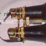 Nautical Brass Leather Binocular