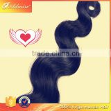100 pct human hair without animal or synthetic hair raw unprocessed trio Brazilian body wave hair extension