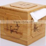 Fine carving bamboo tissue box