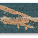Hot sale printed airplane cork board