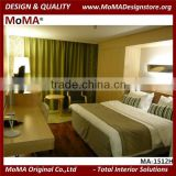 MA-1512H European Style Hotel Bedroom Furniture Set, Queen Size Hotel Bed