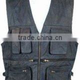 DL-1585 BIKER LEATHER VEST LIVE TO RIDE EMBOSSING EAGLE WAISTCOAT