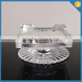 clear footed glass crystal cake stand