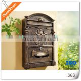 wall mount mailbox/durable aluminum letterbox/apartment outdoor post box