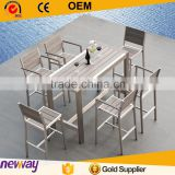 USA All weather Top quality aluminum frame WPC table and chair outdoor wholesale bar furniture                                                                         Quality Choice