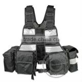 Reflective Tactical Vest/Military Police Vest/Combat Vest/Tactical Vest Reflective 1000D SGS Tested Waterproof NYLON ISO Stand