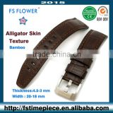 FS FLOWER - Glossy Luxury Quality Leather Belt Strap For Watch 22 mm