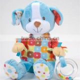 "11"" soft and cute ACTIVITY DOG Plush Baby Toy"
