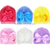 Newborn crochet baby costume photography props knitting hat infant new born baby girls hair accessory