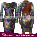 on sale 2015 western style backless dresses long sleeve young girls sexy bandage dresses long sleeve sexy clubwear mini dresses