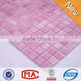 hot sale Foshan China stained glass supplies low price square stained glass tiles pink mosaic tile backsplash