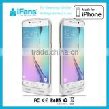 iFans Backup Battery Case for Samsung Galaxy S6 Edge,Wireless Phone Charger for S6 Edge 3500mAh