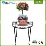 Outdoor Garden Wire Plant Stand, 4 Size Metal Corner Shelf Flower Pot Stand