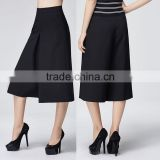 China supplier online shopping new arrival fashion black high waisted women wide leg pants
