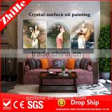 wholesale dropshipping sex chinese girl nude painting canvas oil painting decor home for living room