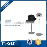 Electroplating Stainless steel Hat display rack Apparel display stand for Store and shops showcase