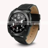 Popular android smart watch DM88 280MAH leather strap watch heart rate monitor watch tracker bluetooth