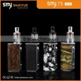 2016 Smoking e pipe smy 75w box mod electronic cigarette box mod smy75w temperature control box mod