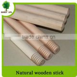 Natural wood broom sticks / PVC coated wooden broom handle / varnished cleaning tools wooden mops stick