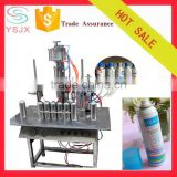Semi automatic tin can capping sunscreen spray filling machine