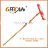 2014 new product garden rake 14 tooth