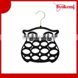 China velvet retail scarf hanger black