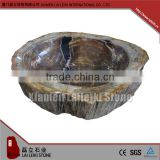 Chinese promotion polished petrified wood natural stone pedestal sink