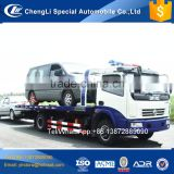 Dongfeng 6 wheeler flat bed slide under lift rotator recovery truck for sale
