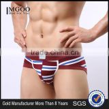 MGOO New Arrival Lables Custom Cotton Spandex Brief For Man Bikini Boxer Underwear Tight cmtw01