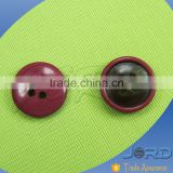 Free sample wholesale newest fashion 4 holes combined color polyester resin button