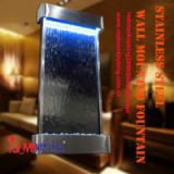 wall mounted indoor waterfall fountain glass fountain stainless steel frame fountain water curtain