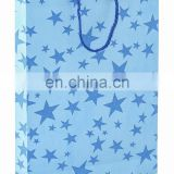 Royal sky bule star printed design Premium Gift Paper Carry Bags-Royal Blue on Boy Blue Base(Pack of 10) -Size-11*8.5 Inches.
