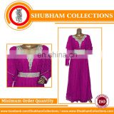 Latest Fashion Design Muslim Dress Stone Work Chiffon Kaftan For Women kaftan