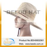 Hot new products for 2014raffia farmers wide brim straw hats for men with belt