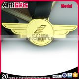 Custom design souvenir new design antique brass medal