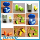 Supplier sleep study car racing travel shooting loud noise Promotion gift soundproof foam ear plugs