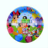 Fashion disposable round cheap paper plates for dinner tableware
