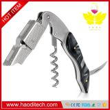 Black Color Professional Stainless Steel with Moonstone Resin Inlay All-in-one Corkscrew, Bottle Opener and Foil Cutter