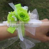 Neon Green Roses Ladies Prom&Wedding Wrist Corsage