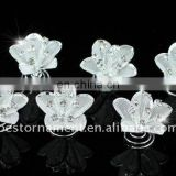 Bridal Wedding Crystal Flower Hair Twists