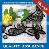 X0629V-neck Flower Lint Bead Patches,wholesale beaded applique patch,neck applique patch