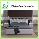 antique leather furniture double bed for bedroom