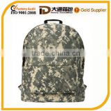 Army Camouflage Pattern Polyester Water-Resistant Outdoor Hiking Backpack School Book Bag for Teens