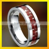 manufacturer direct price red carbon fiber tungsten carbide ring